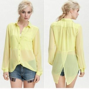 Free People Best of Both Worlds Neon Tail Blouse